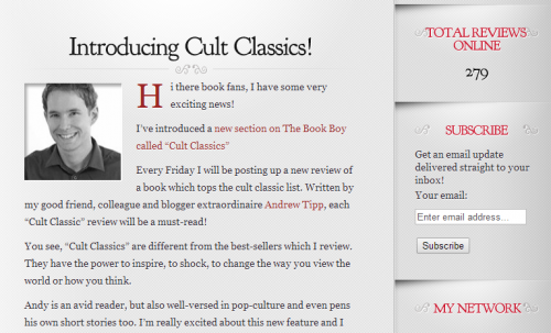 Cult Classic reviews on The Book Boy
