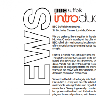 BBC Suffolk Introducing... Review