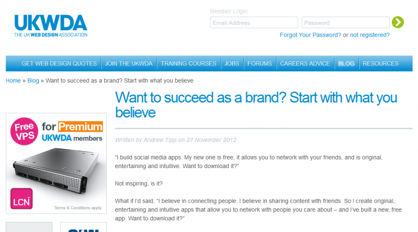Want to Succeed as a Brand? Start With What You Believe